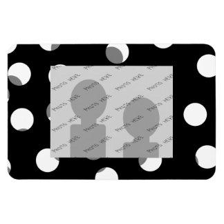 Gray, black and white dot pattern. Custom Magnet