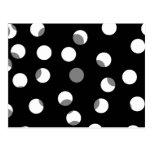 Gray, black and white dot pattern. postcard