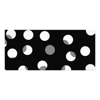 Gray, black and white dot pattern. rack cards