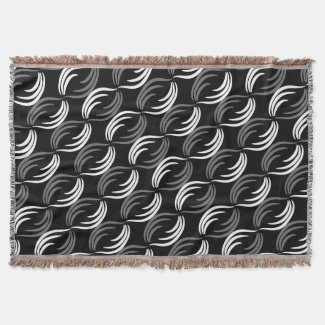 Gray,Black And White Modern Abstract Pattern