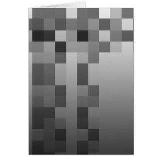 Gray, Black and White Squares Pattern. Greeting Card