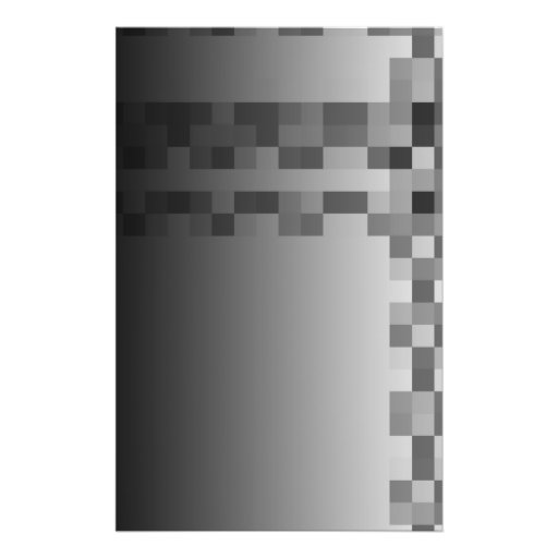 Gray, Black and White Squares Pattern. Personalized Flyer