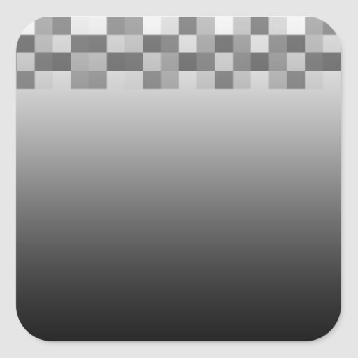 Gray, Black and White Squares Pattern. Sticker
