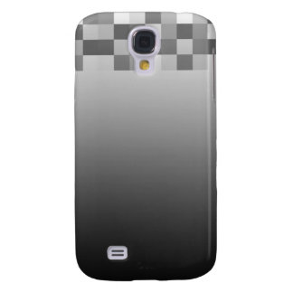 Gray, Black and White Squares Pern. Galaxy S4 Case