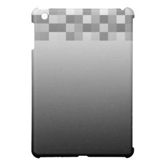 Gray, Black and White Squares Pern. iPad Mini Covers