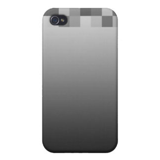 Gray, Black and White Squares Pern. iPhone 4 Case