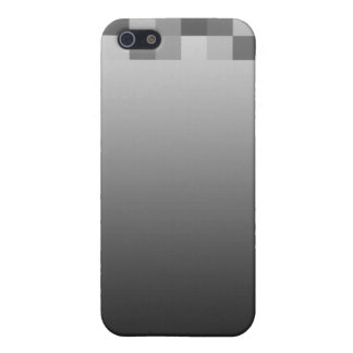 Gray, Black and White Squares Pern. iPhone 5 Covers