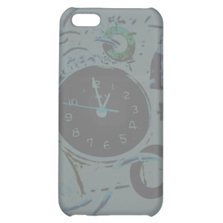 Gray, Black and White Steampunk Clock Cover For iPhone 5C