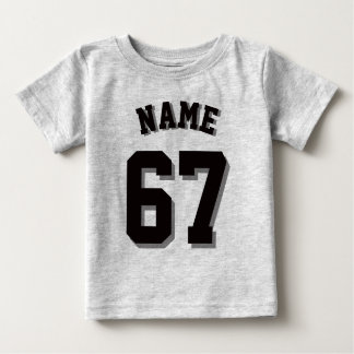 Gray & Black Baby | Sports Jersey Baby T-Shirt