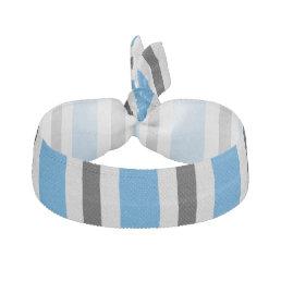 Gray black blue stripes hair tie