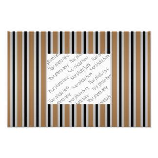 Gray black brown stripes photo print