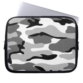 Gray & Black Camouflage Laptop Sleeve