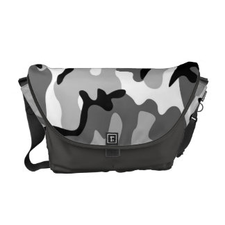 Gray & Black Camouflage Messenger Bag