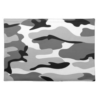 Gray & Black Camouflage Placemat