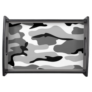 Gray & Black Camouflage Serving Tray