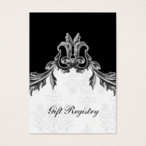 gray black Gift registry  Cards