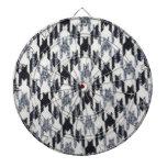 Gray & Black Houndstooth Modern Fabric Texture Dartboards