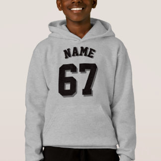 Gray & Black Kids | Sports Jersey Hoodie