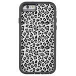 Gray Black Leopard Animal Print Pattern Tough Xtreme iPhone 6 Case