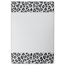 Gray Black Leopard Animal Print Pattern Post-it Notes