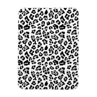 Gray Black Leopard Animal Print Pattern Vinyl Magnets