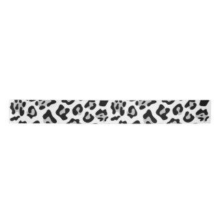 Gray Black Leopard Animal Print PatternGray, black Satin Ribbon