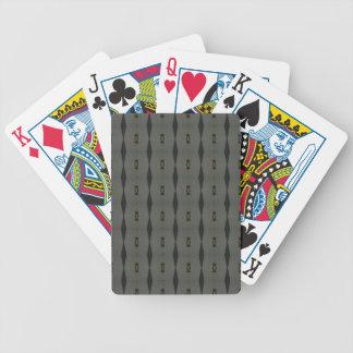 Gray Black Maclin Pattern Bicycle Playing Cards