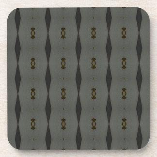 Gray Black Maclin Pattern Coaster