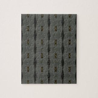 Gray Black Maclin Pattern Jigsaw Puzzle