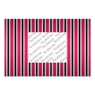 Gray black magenta pink stripes photo art