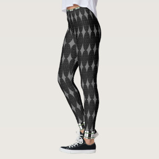 Gray-Black-Mod-Mix-Plaid-Trim-XS-XL_Leggings_ Leggings