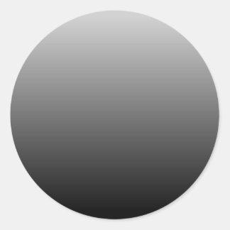 Gray Black Ombre Classic Round Sticker