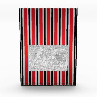 Gray black red stripes awards
