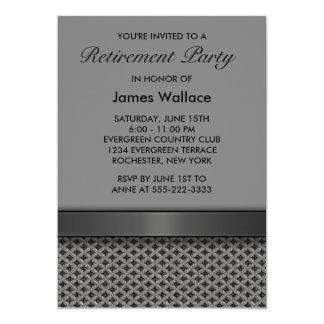 Gray Black Retirement Party 5x7 Paper Invitation Card