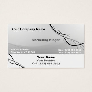Gray Black Ribbon Business Card