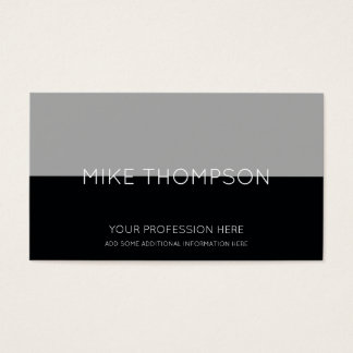 gray & black, simple, cool & modern business card