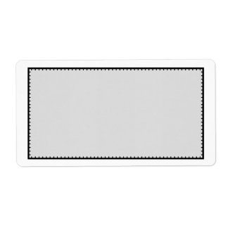 Gray Black Stitched Border Shipping Address Label