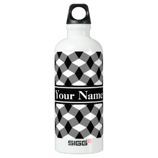 Gray/Black/White Wavy Pattern Bottle