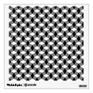 Gray/Black/White Wavy Pattern Wall Decal