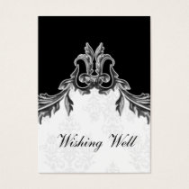 gray black wishing well cards