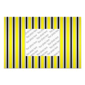 Gray black yellow stripes photo print