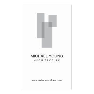 GRAY BLOCKS LOGO for Architects, Builders, Design Double-Sided Standard Business Cards (Pack Of 100)