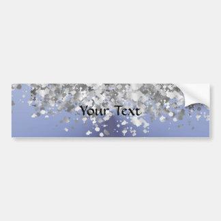 Gray blue and faux glitter bumper sticker