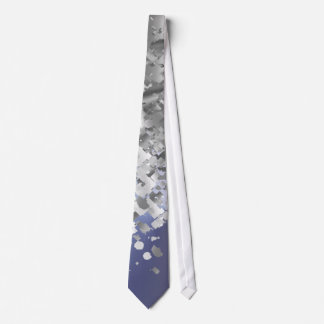 Gray blue and faux glitter tie
