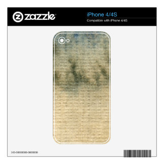 gray-blue background watercolor 6 decals for the iPhone 4S