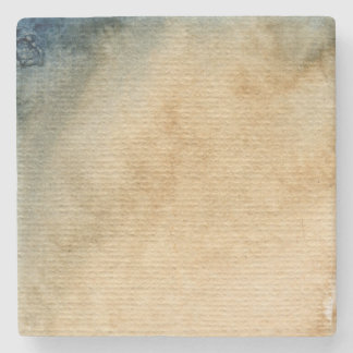 gray-blue background watercolor 7 stone coaster