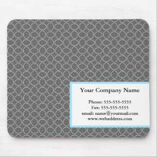 Gray & Blue Business Mousepad