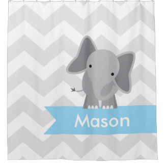 Blue And Gray Shower Curtains