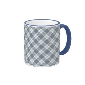 Gray Blue Diagonal Mug