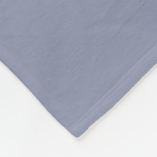 Gray-Blue Fleece Blanket